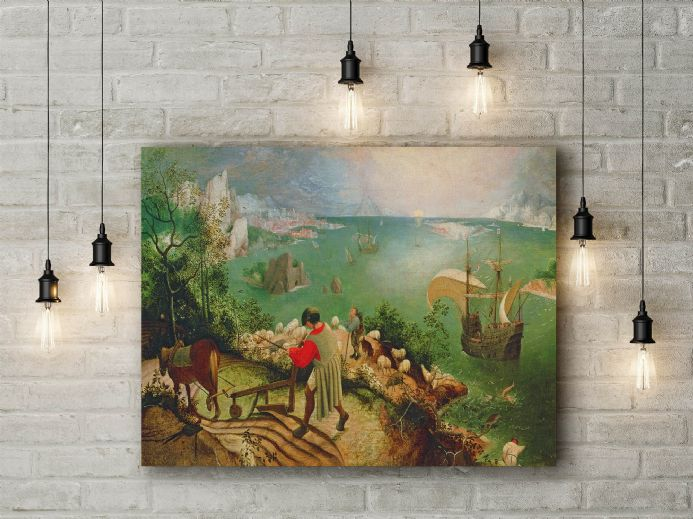 Pieter Bruegel: Landscape with the Fall of Icarus. Fine Art Canvas.